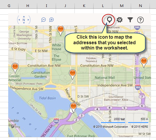 Cch cpelink interactive maps in excel 20132016 figure 2 the free bing maps app allows you to create interactive maps within excel gumiabroncs Images
